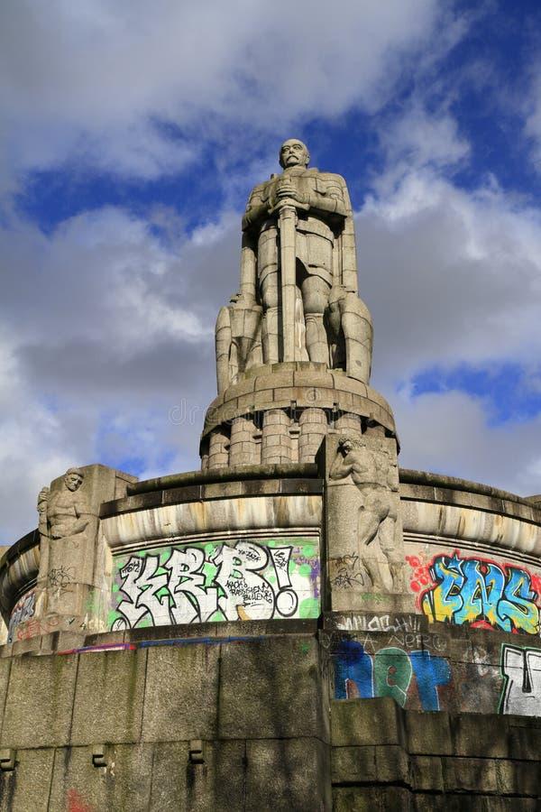 Das Bismarck-Monument, Hamburg lizenzfreie stockfotografie