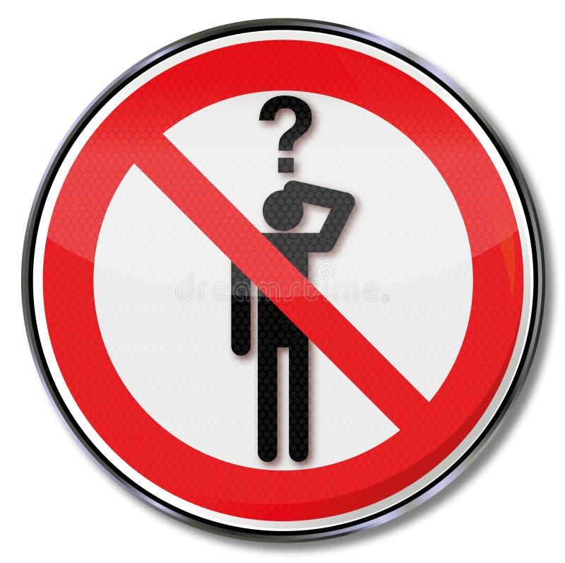 Das Bitten ist verboten stock abbildung
