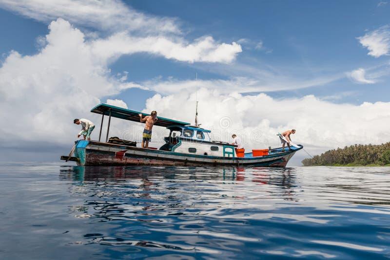 In das Blau Nord-Sumatra stockbild
