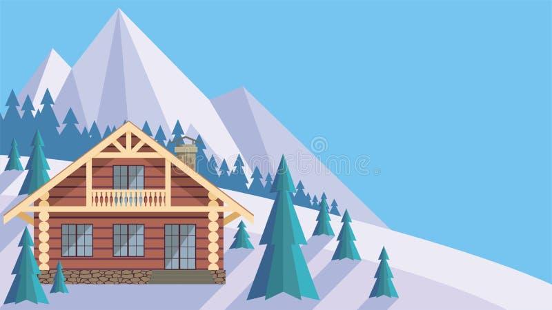 Das Blockhaus das blockhaus vektor abbildung illustration alpin 93389558