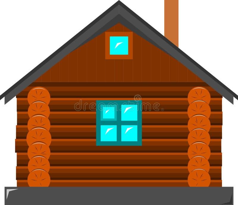 Das Blockhaus das blockhaus vektor abbildung illustration getrennt 96463351