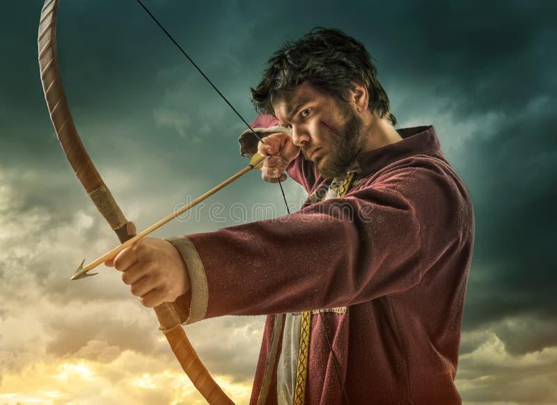 Das Bogenschießenziel der Männer - nah lizenzfreie stockfotografie