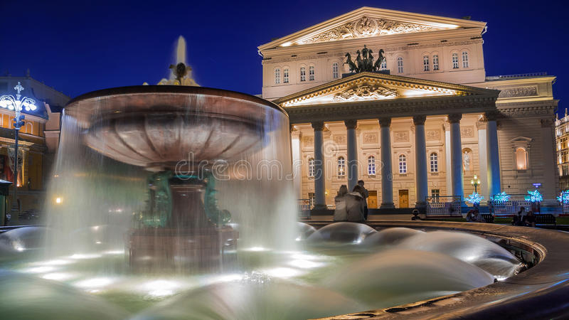 Das Bolshoi Theater, Moskau, Russland stockfoto