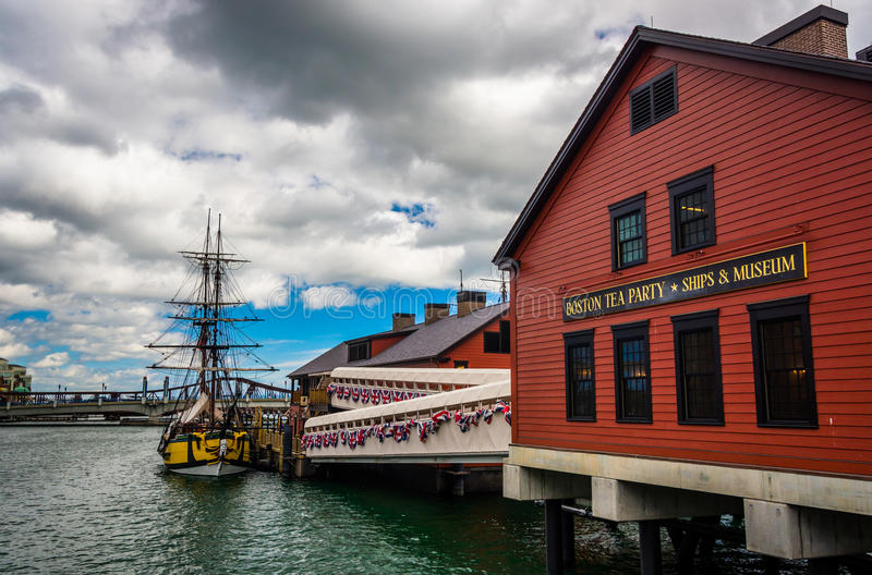 Das Boston-Teeparty-Museum, in Boston, Massachusetts stockfoto