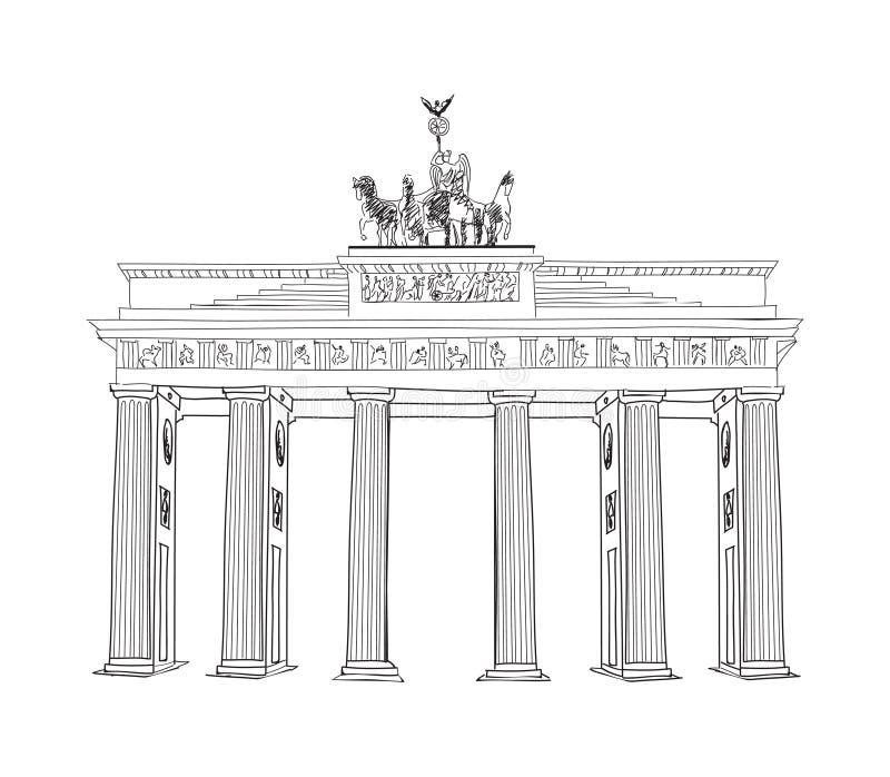 Das Brandenburger Tor In Berlin Hand Gezeichnete Bleistiftskizzenillustration Brandenburger Felsen In Berlin Deutschland Stock Abbildung Illustration Von Hand Felsen 36134273