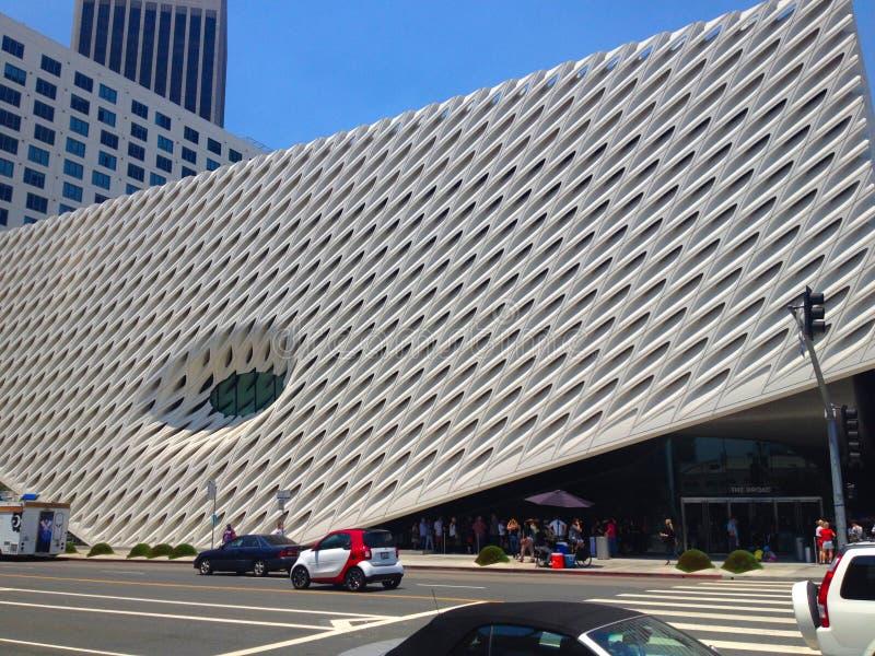 Das breite, ein Museum der zeitgenössischen Kunst in Los Angeles, Kalifornien, Haus zu 2000 Kunstwerken in der breiten Sammlung lizenzfreie stockfotografie