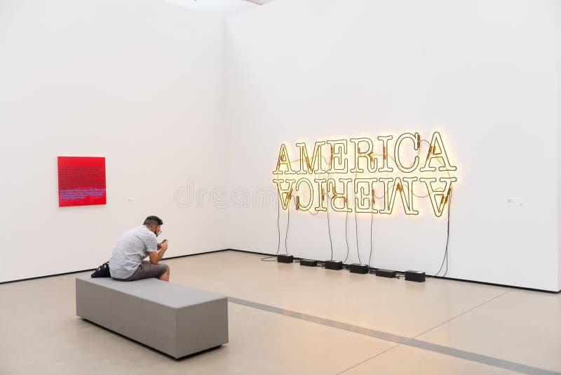 Das breite Museum lizenzfreie stockbilder