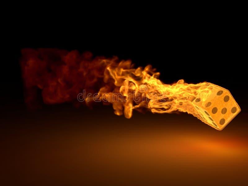 Das Brennen würfelt lizenzfreie abbildung