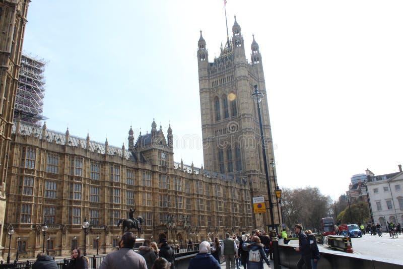 Das britische parlament in London lizenzfreie stockbilder