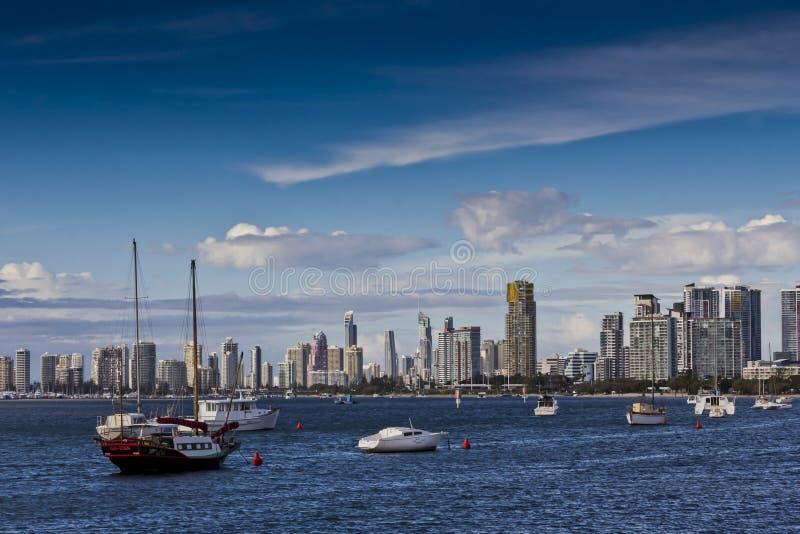 Das broadwater, Gold Coast lizenzfreie stockbilder