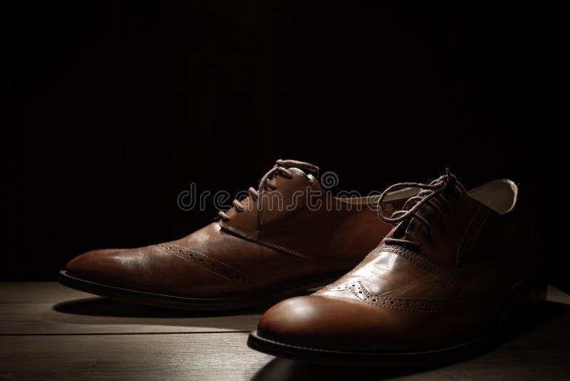 Das Brown-Schuhe der Männer lizenzfreie stockbilder