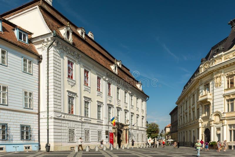 Das Brukenthal-Nationalmuseum lizenzfreie stockfotografie
