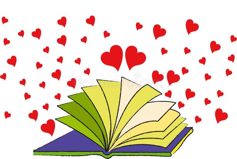Das Buch der Liebe lizenzfreie abbildung