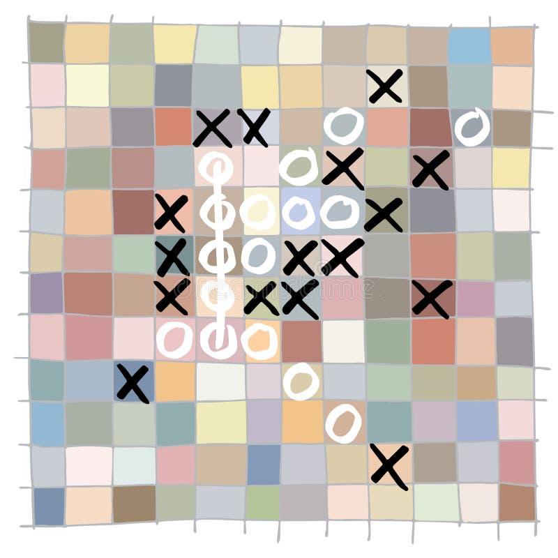 Das bunte quadratische Muster, basiert auf manuell gezeichneter Bürste zeichnet und enthält a vektor abbildung