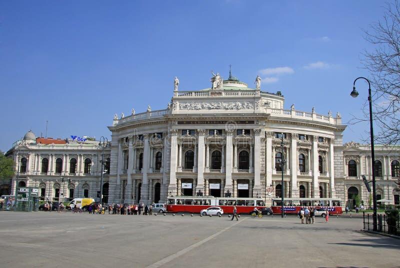 Das Burgtheater-Kaiserhof-Theater ist das österreichische Nationaltheater in Wien stockbild