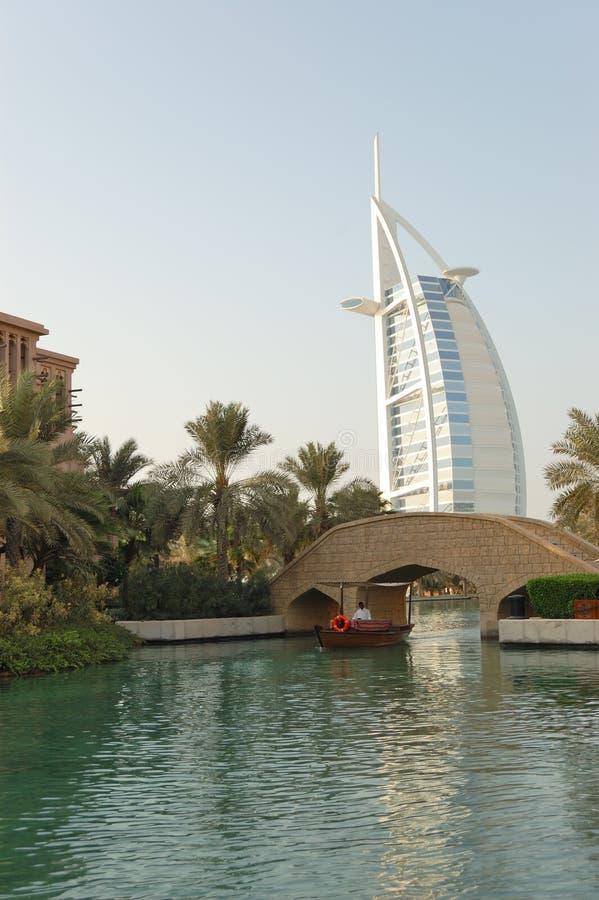Das Burj Al-Araberhotel lizenzfreie stockfotos