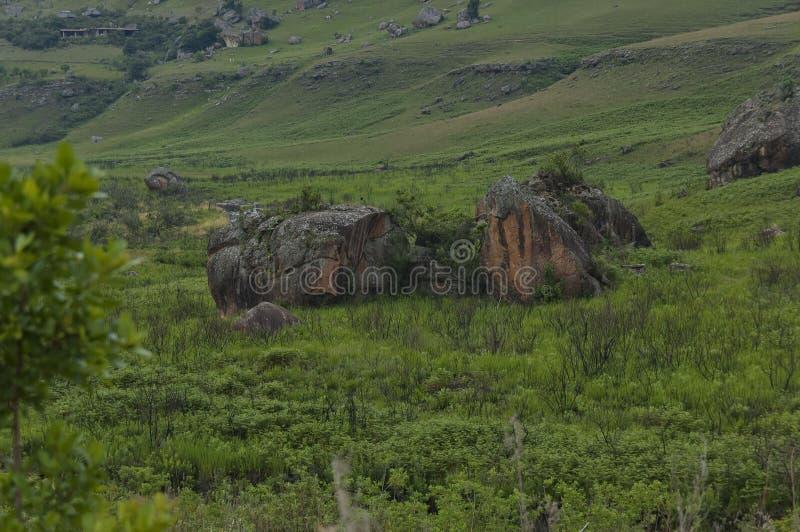 Das Bushmans River Valley im Giants-Schloss-Kwazulu Natal Naturreservat lizenzfreie stockfotos