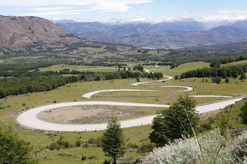 Das Carretera Austral, Chile lizenzfreies stockbild