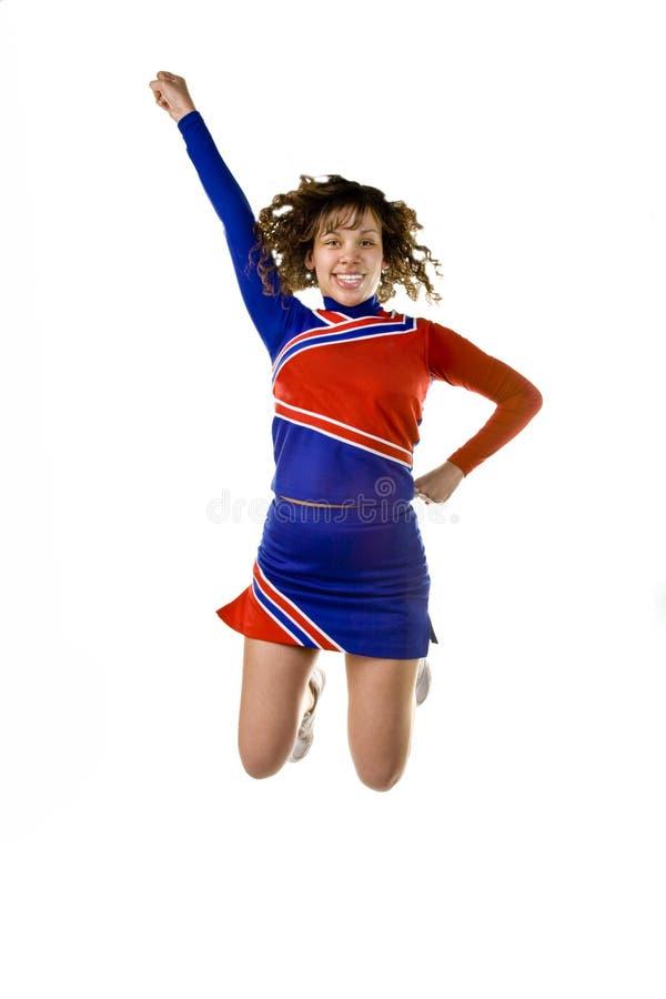 Das Cheerleader-Springen stockfotografie