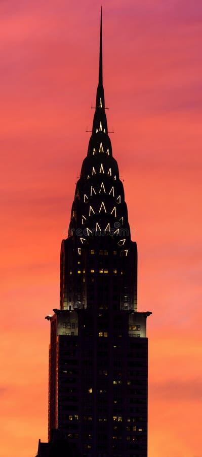 Das Chrysler-Gebäude lizenzfreies stockbild