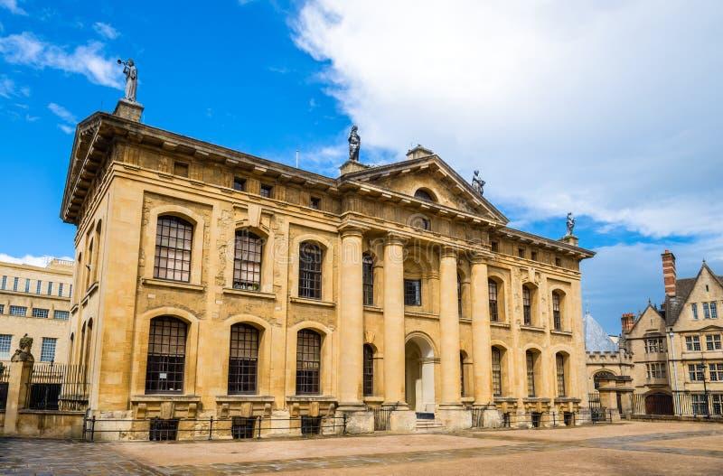 Das Clarendon-Gebäude in Oxford stockfoto
