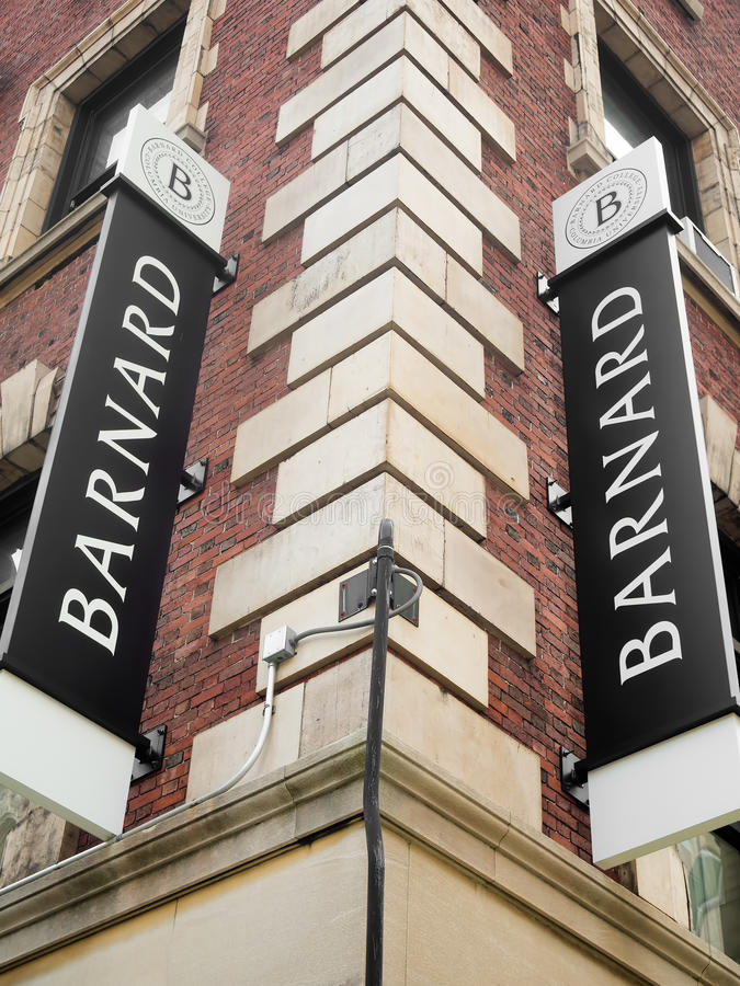 Das College Barnard-Freier Künste in New York City stockfotografie
