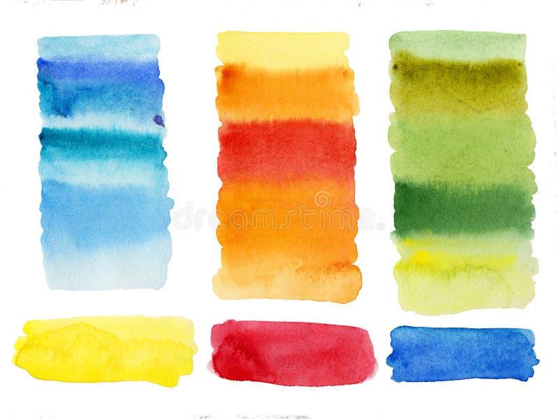 Das colunas abstratas das formas da aquarela o fundo limpado de alta resolução isolou fácil de usar imagem de stock royalty free