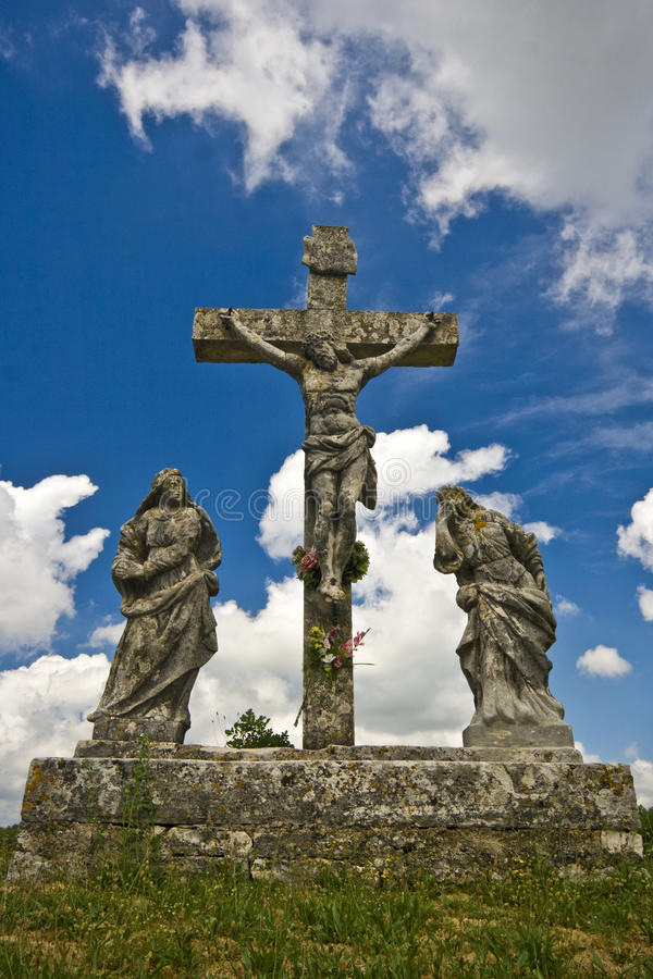 Das crusifiction des Jesus Christus in Zminj lizenzfreie stockfotografie