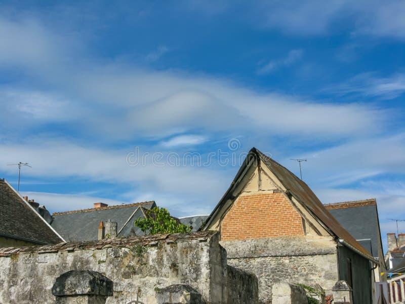 Das Dach des schönen Chateaus in der Loire lizenzfreie stockfotografie