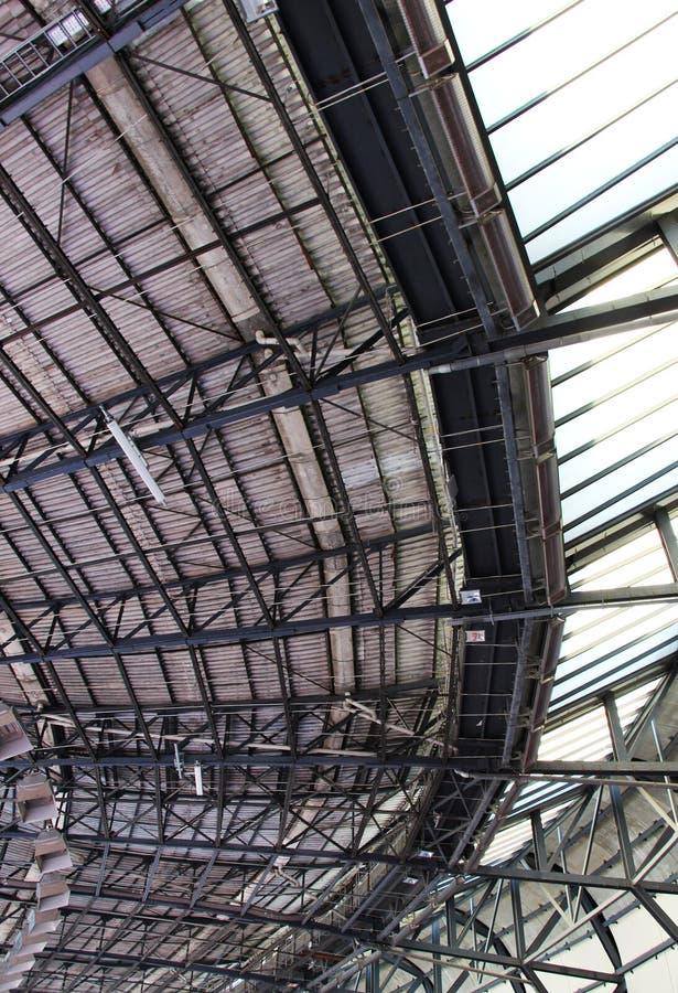 Das Dach eines Stadions, Perspektive stockfoto