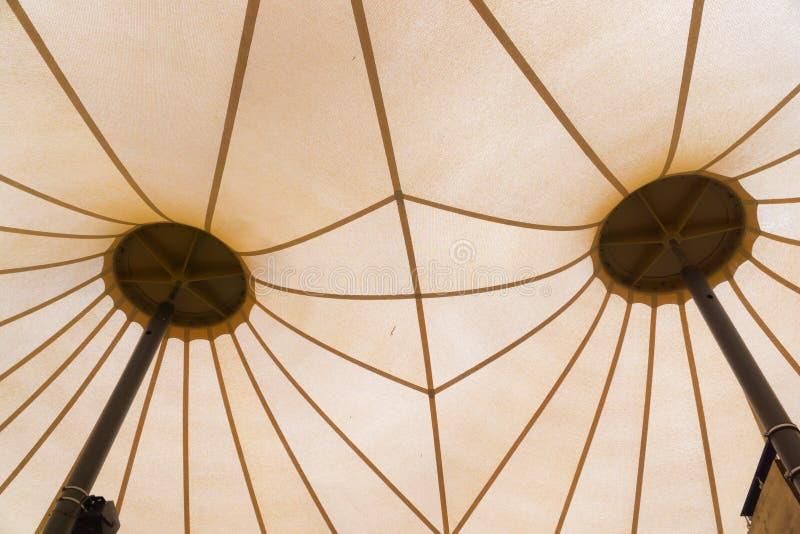 Das Dach eines Zeltes intern stockbild