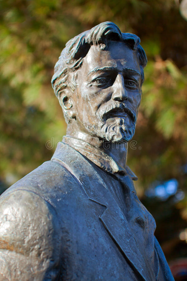 Das Denkmal von Anton Pavlovich Chekhov stockfotos