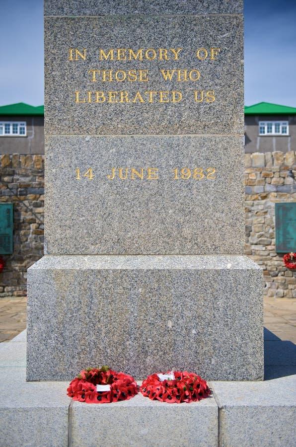 Das Denkmal zum 1982 Insel-Krieg stockfoto