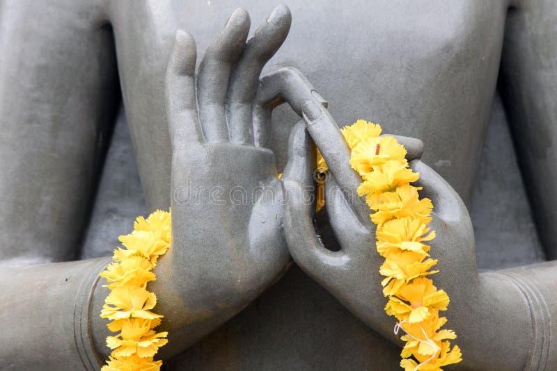Das Detail der Statue von Buddha lizenzfreie stockbilder
