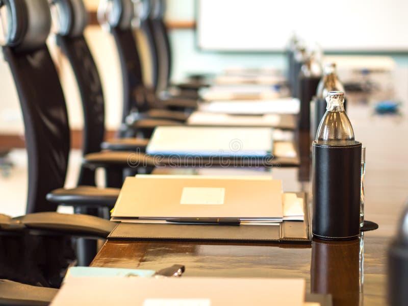 Das Detail geschossen von einem Konferenzzimmer, lizenzfreies stockbild