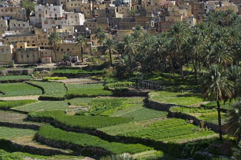 Das Dorf Bilad Sayt stockbild