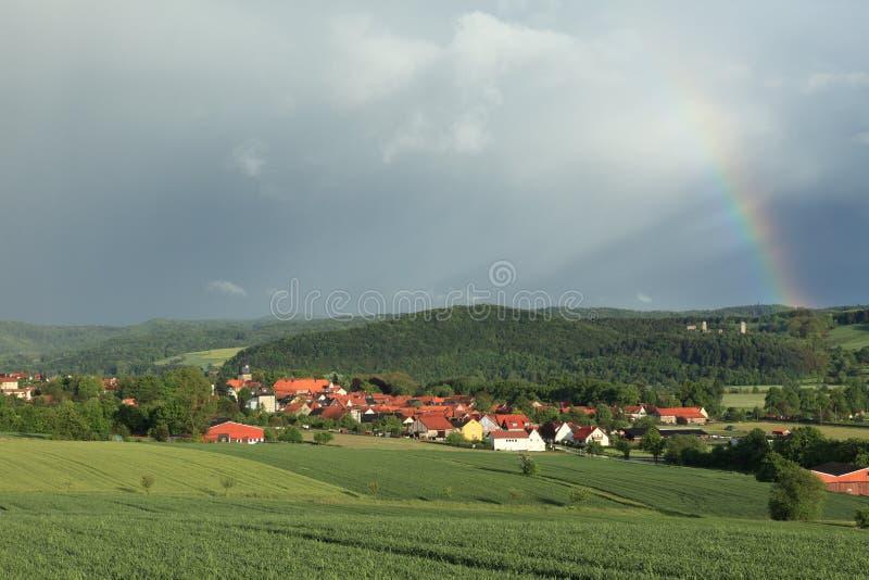 Das Dorf Herleshausen lizenzfreie stockfotografie