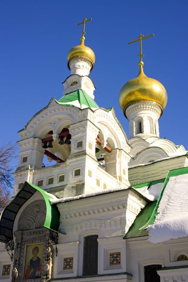Das Dreifaltigkeitskirchegrab Sokolniki Moskau das Golden Dome stockfotos