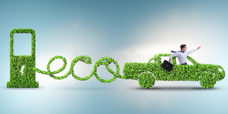 Das eco freundliche Auto angetrieben durch alternative Energie vektor abbildung