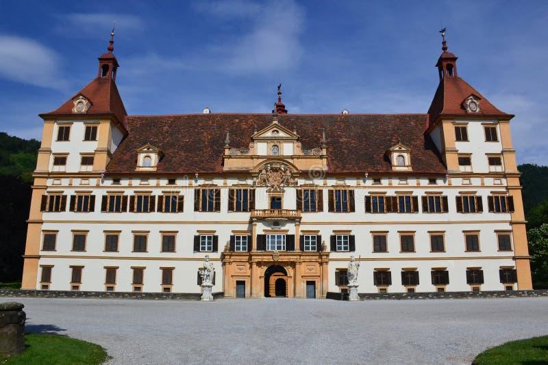 Das Eggenberg-Schloss in Graz lizenzfreie stockbilder