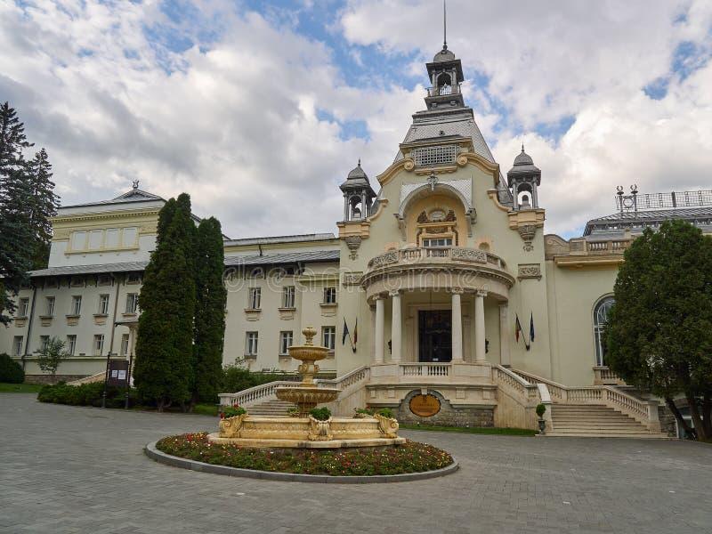 Das ehemalige Kasino in Sinaia in heutzutage einem Konferenzzentrum und einem Ort für private Ereignisse stockfotos
