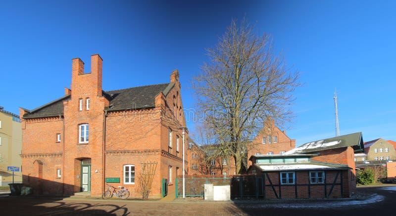 Das ehemalige Stephanienkonvent (Stephanie-Kloster), jetzt aufgelistet als Monument in Greifswald, Deutschland lizenzfreies stockbild