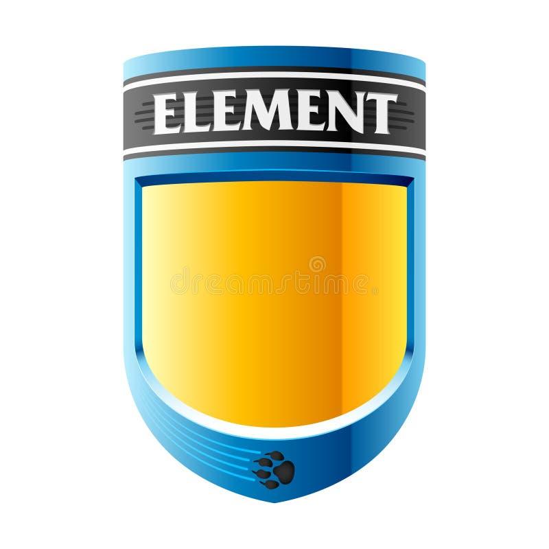 Das Element einer Auslegung stock abbildung