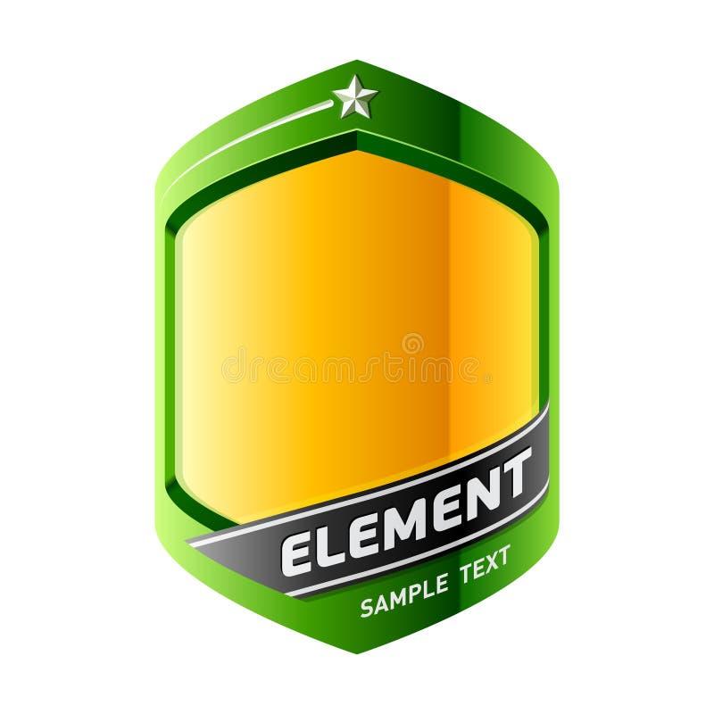 Das Element einer Auslegung. Vektor. stock abbildung