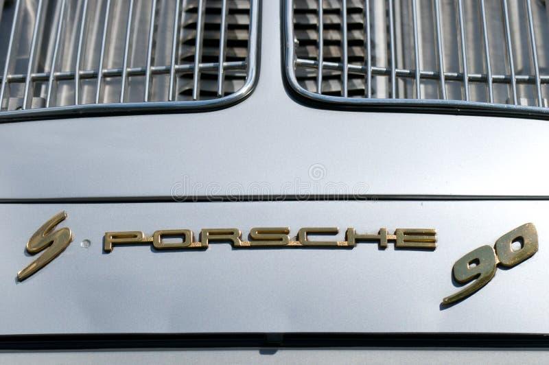 Das Emblem des Autos der Porsche 356 S90 lizenzfreie stockfotografie