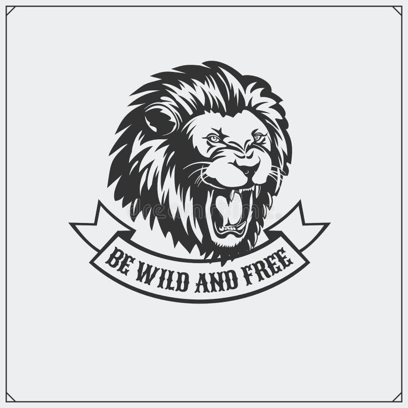Das Emblem mit Löwe lizenzfreie abbildung