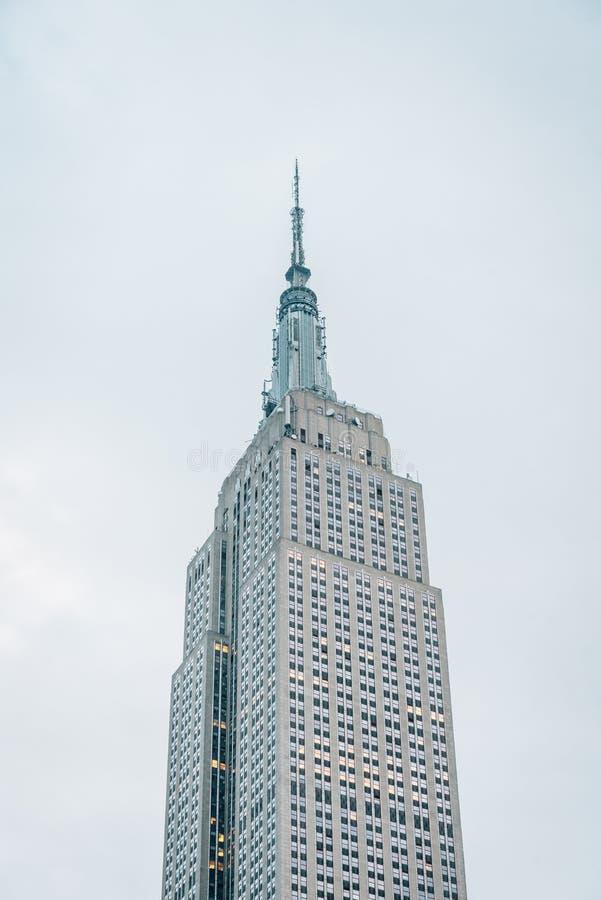 Das Empire State Building, in Midtown Manhattan, New York City stockfotos