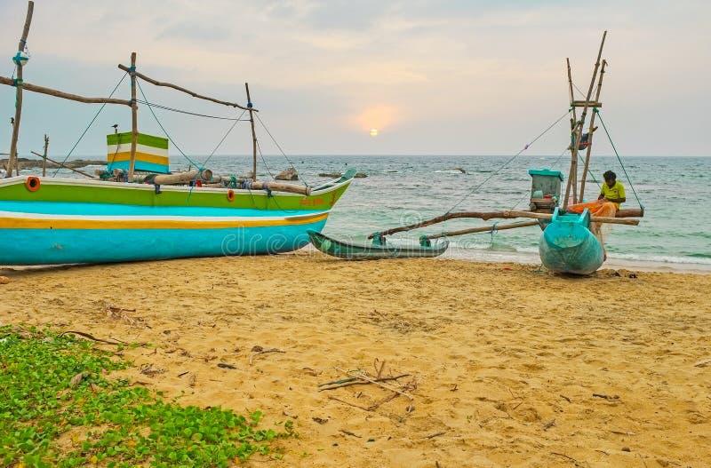 Das Ende des Fischer ` s Tages stockfoto