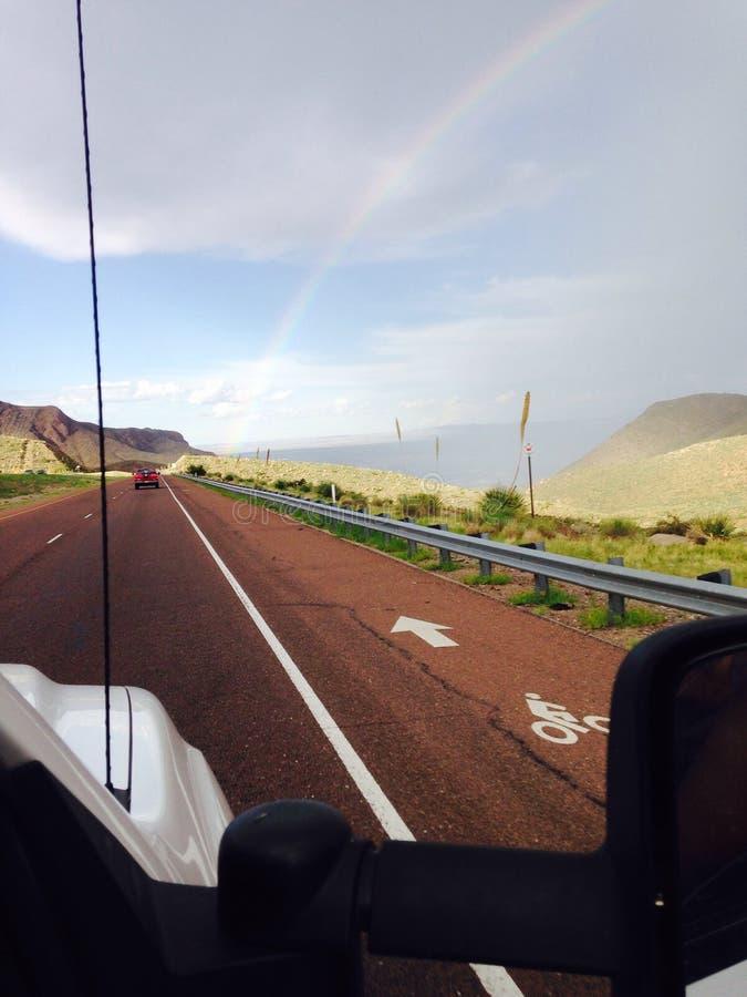 Das Ende des Regenbogens stockfotografie