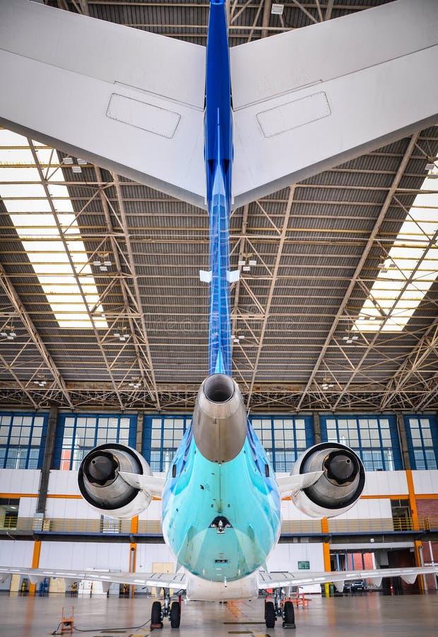 Das Endstück von CRJ-1000 stockfoto